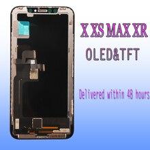 100% 테스트 된 AAA + + + LCD 교체 아이폰 X XS 최대 XR LCD 디스플레이 터치 스크린 3D 터치 디지타이저 어셈블리