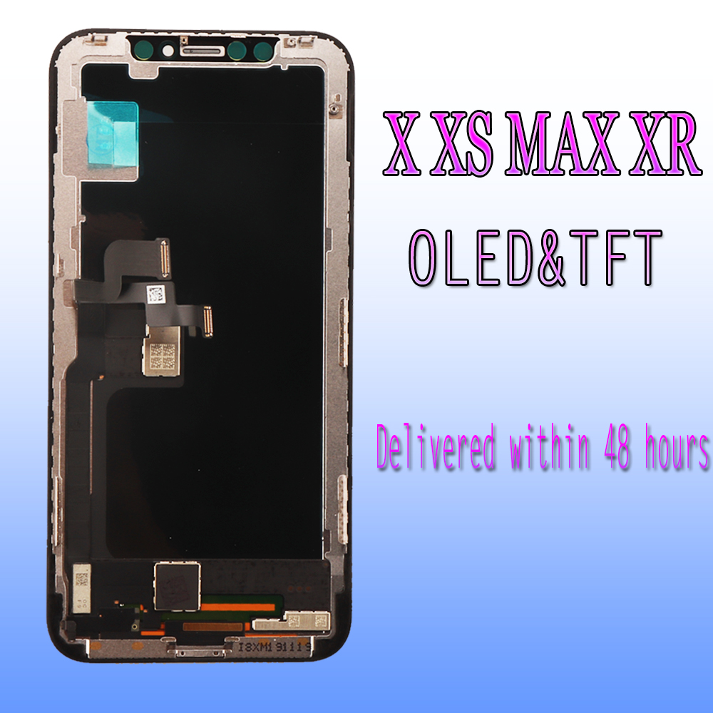100% Tested AAA    LCD Replacement for iPhone X XS MAX XR LCD  Display Touch Screen With 3D Touch Digitizer AssemblyMobile Phone LCD  Screens
