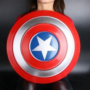 Image 2 - Le 1:1 Captain America bouclier complet métal rond bouclier arme Halloween super héros Cosplay accessoire enfants cadeau décoration