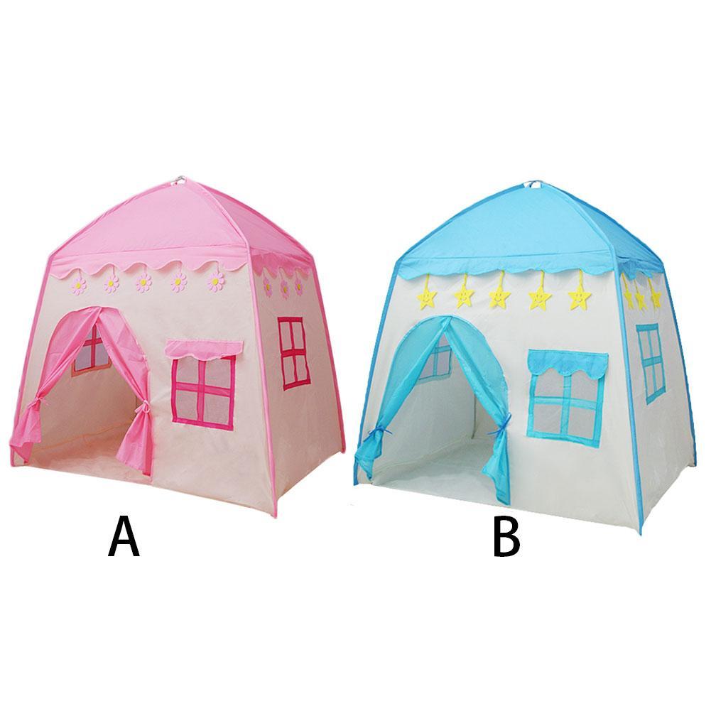 Enfants jouet tente petite fille d'intérieur rose princesse jouet maison garçon jouer maison petite maison enfants tente paquet taille 52x23x4CM