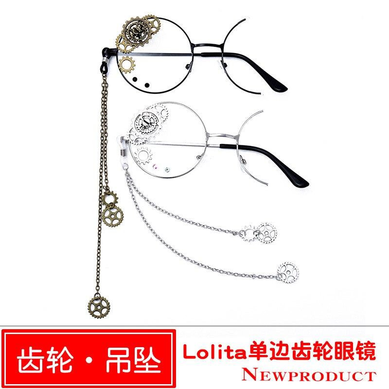 Lolita Single Side Gear Glasses Personality Single Side Decorative Glasses Frame