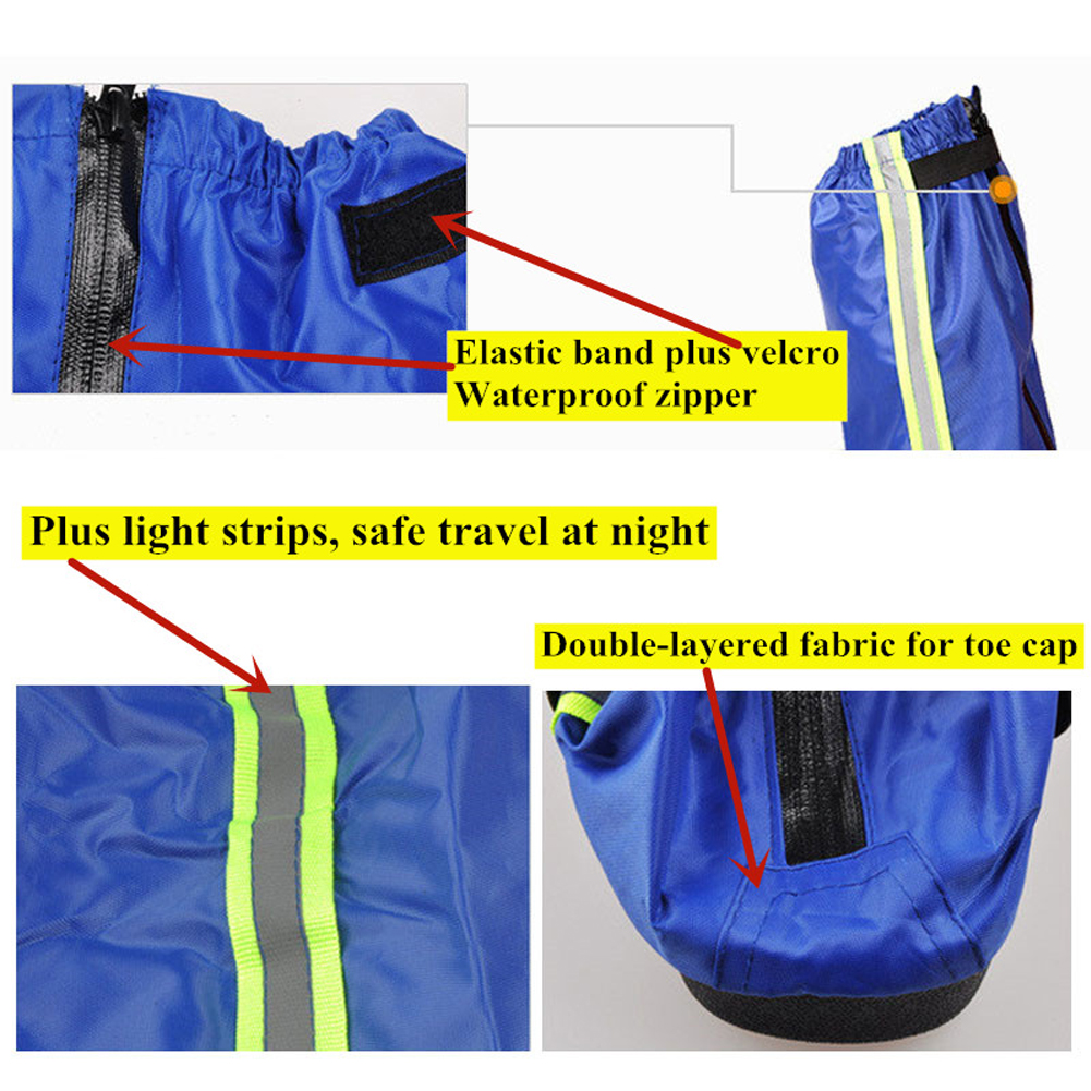 Long and Waterproof Shoe Protector for Men and Women with Reflective Tape useful for Cycling and Bike Riding in Rainy Season 8