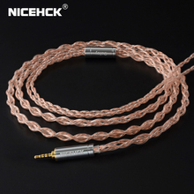 NICEHCK 6N UPOCC Copper and Copper-Silver Alloy Mixed Cable Litz 3 5 2 5 4 4 MMCX 0 78mm 2Pin qdc2Pin For ZSX KXXS NX7 MK3 LZ A7 cheap CN(Origin) Earphone Cables 1 2m±5cm Oalloy 6N 99 9997