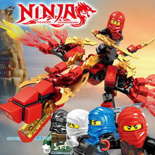 4Pc/set Ninja Dragon Knight Building Blocks Sets DIY Brinquedos Bricks Figures Educational Toys for Children 1pc the hobbits lord of the rings knight diy figures assemble model diy building blocks sets kids educational toys gift xmas