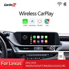 Carlinkit para Lexus NX ES nosotros ES CT RX GS ¿LX LC RC 2014-2019 Multimedia Inalámbrico de Apple CarPlay y Android auto Equipment de reequipamiento