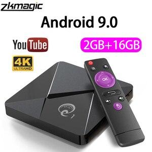 Image 1 - ZKMAGIC أندرويد 9.0 صندوق التلفزيون Q1Mini Rockchip RK3328 2GB 16GB صندوق أندرويد 2.4 واي فاي جوجل بلاي تي في بوكس أندرويد