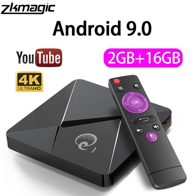 ZKMAGIC أندرويد 9.0 صندوق التلفزيون Q1Mini Rockchip RK3328 2GB 16GB صندوق أندرويد 2.4 واي فاي جوجل بلاي تي في بوكس أندرويد