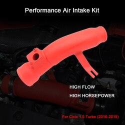 R-EP rendimiento de entrada de aire frío para Civic 1,5 Turbo 2016-2019 reemplazo de tubo de entrada de aluminio filtro de aire