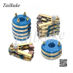 2-4 Channel Collector Ring Copper Carbon Brush Holder Combination Multilayer Slip Ring Pillow Packing Machine Accessories