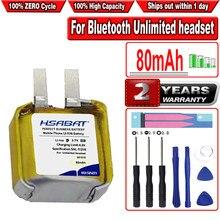 HSABAT 2 teile/los 80mAh Batterie für iphone i7 i8 i9s i10 für xiaomi für huawei Bluetooth Unbegrenzte headset