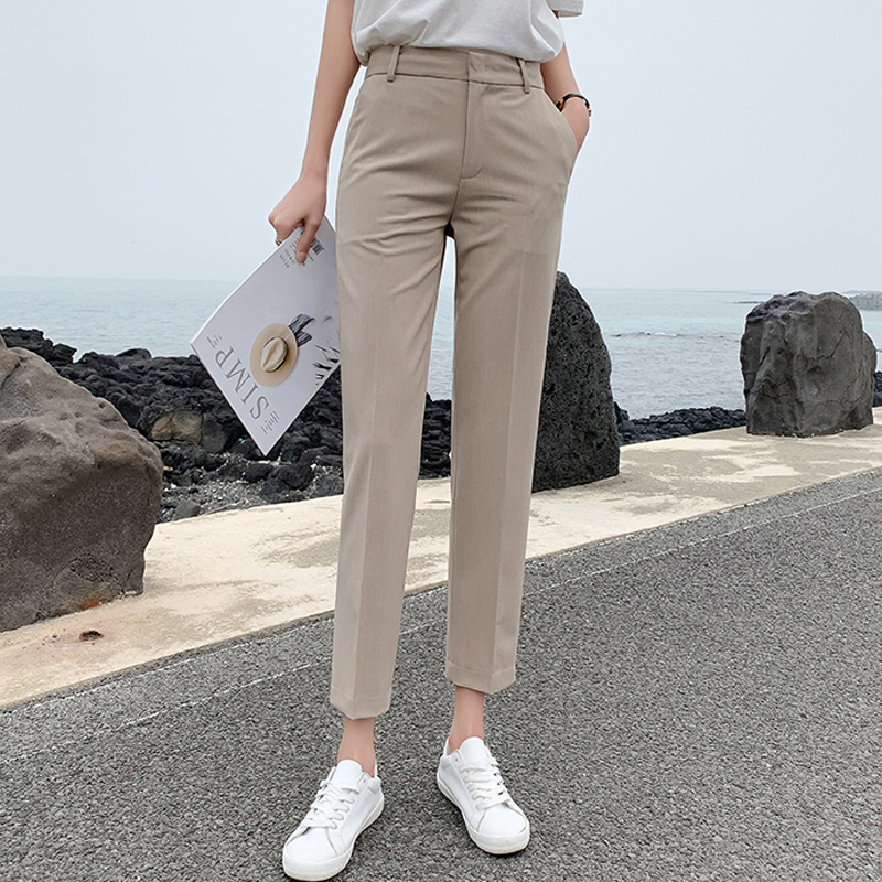BGTEEVER OL Style Women Pants Plus Size Casual Pencil Pant High Waist Elegant Work Trousers Female Suit Pant Pantalon Femme 2019