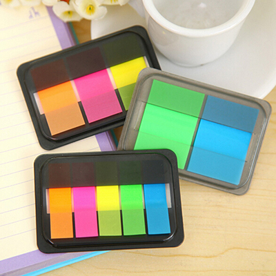 Fluorescence Color Self Adhesive Memo Pad Sticky Notes Bookmark  Marker Memo Index Flag Sticker Post Office School Supply