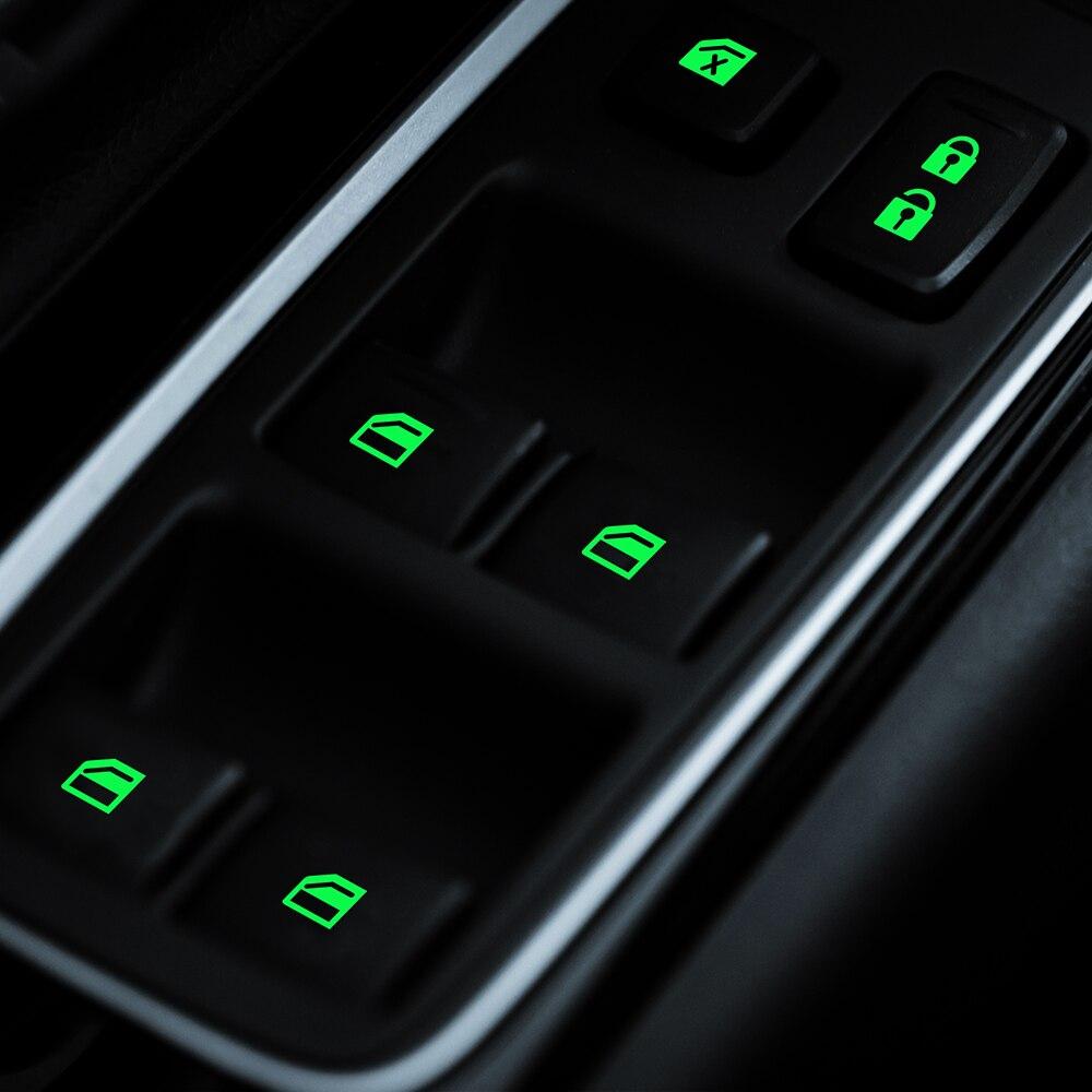 For Mitsubishi ASX Outlander 2013 2016 201 Car Styling Car Door Window Lift Window Button Sticker Car Sticker  Luminous