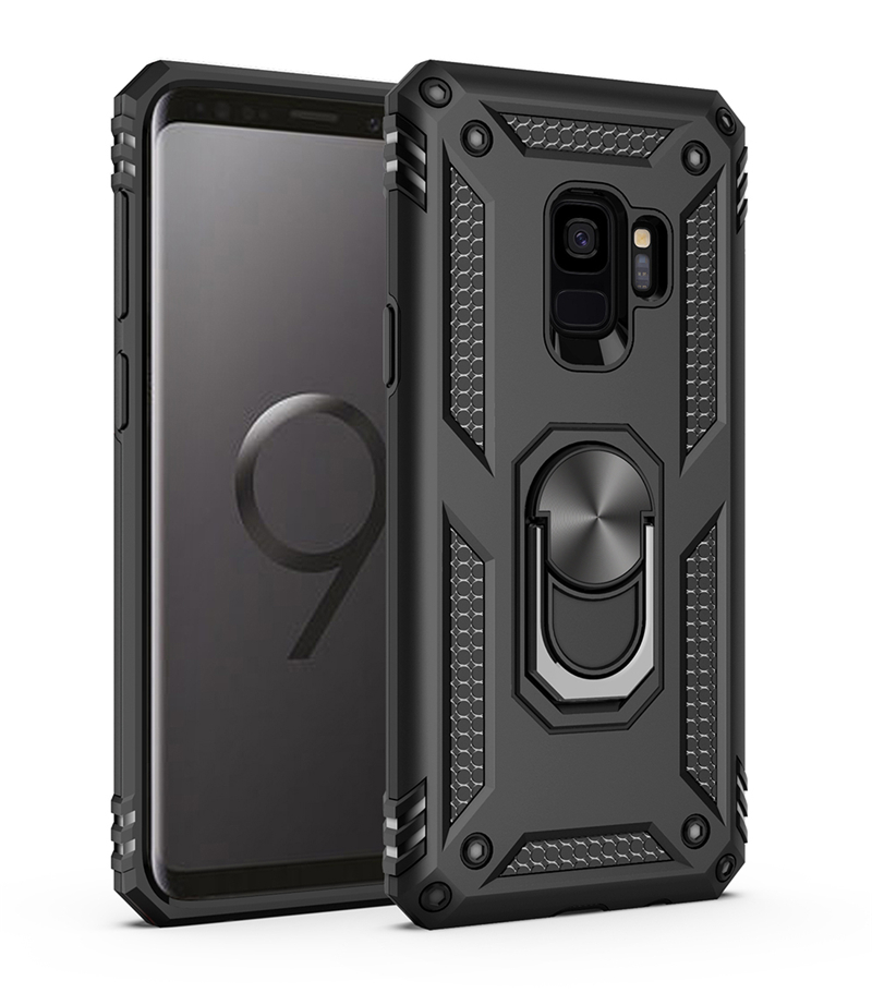<font><b>Shockproof</b></font> <font><b>Case</b></font> For <font><b>Samsung</b></font> Galaxy <font><b>S9</b></font> S8 S10 Plus Note 9 8 A50 A70 A40 Note8 Ring Holder Stand Cover <font><b>Samsung</b></font> S9Plus <font><b>Case</b></font> S10Plus image