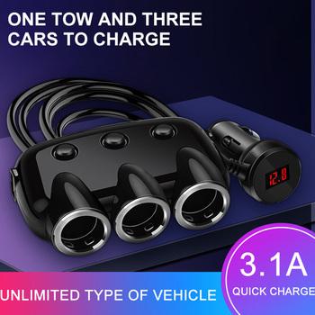 3 1A ładowarka do telefonu na USB ładowarka samochodowa 3 Way samochodowy samochodowy samochodowy samochodowy samochodowy samochód samochodowy gniazdo zapalniczki Splitter podwójny ładowarka USB do telefonu Adapter tanie i dobre opinie willkey 5V 3 1A 24 v 155g Over-heated Over-current Over-charging protection 12-24V 2 USB Port 120W