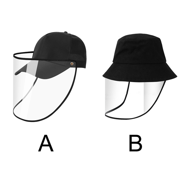 Transparent Anti Spitting PVC Protective Hat Face Shield Travel Easy Clean Eye Protection Outdoor Baseball Cap Saliva Isolation 4