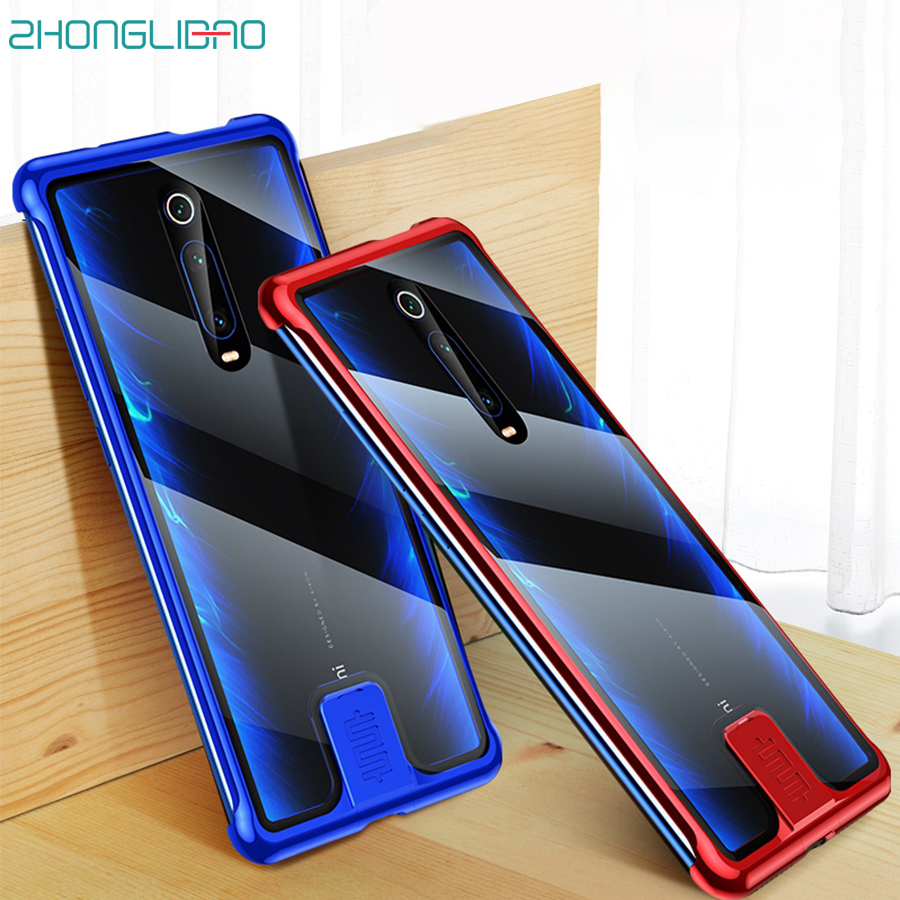 K20pro Metal Bumper Case for <font><b>Xiaomi</b></font> Xaomi Mi 9t <font><b>Mi9t</b></font> Pro Mi9tpro Redmi K20 Pro HD Tempered Glass Back Cover Coque Slim Frameless image