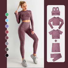CAPMAP Seamless Yoga Suit Breathable Leggings For Fitness Suite Long Solid Color Tracksuit Running Wear Short Women's Sportswear