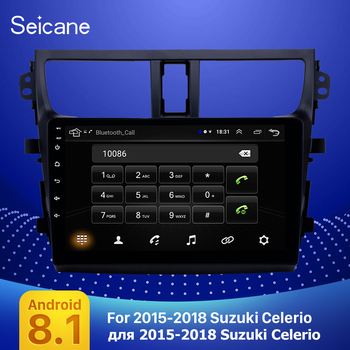 Seicane Car Multimedia Player GPS Android 8.1 9 inch for 2015 2016 2017 2018 Suzuki Celerio Support with AUX support OBD2 image