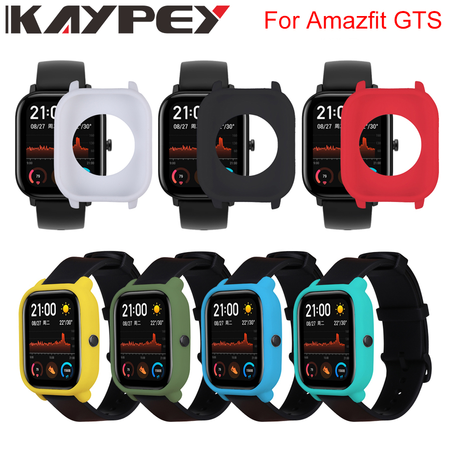 Protective Case For Xiaomi Amazfit GTS Watch Soft Silicone Shell Frame Bumper Protector For Huami Amazfit GTS Cover Accessories