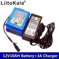10000 mah 새로운 dc 12 v 휴대용 9800 mah li-po 슈퍼 충전식 배터리 팩 + 12 v 3a 배터리 충전기 + 무료 배송
