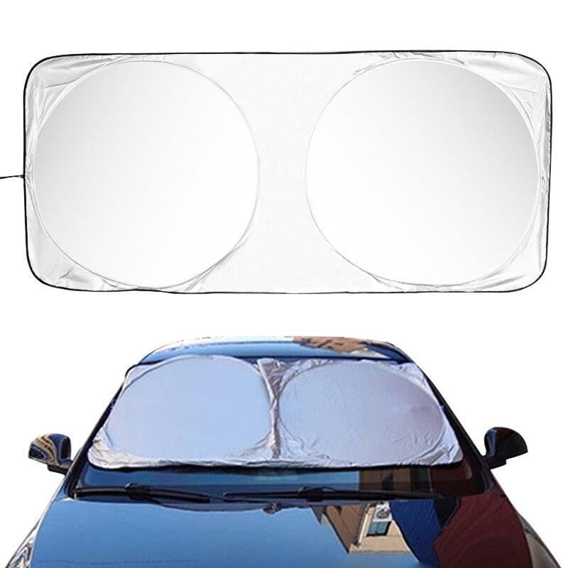 Car SUV Window Sun Shade Autos Windshield Sun Visor Cover Folding Jumbo Cartoon