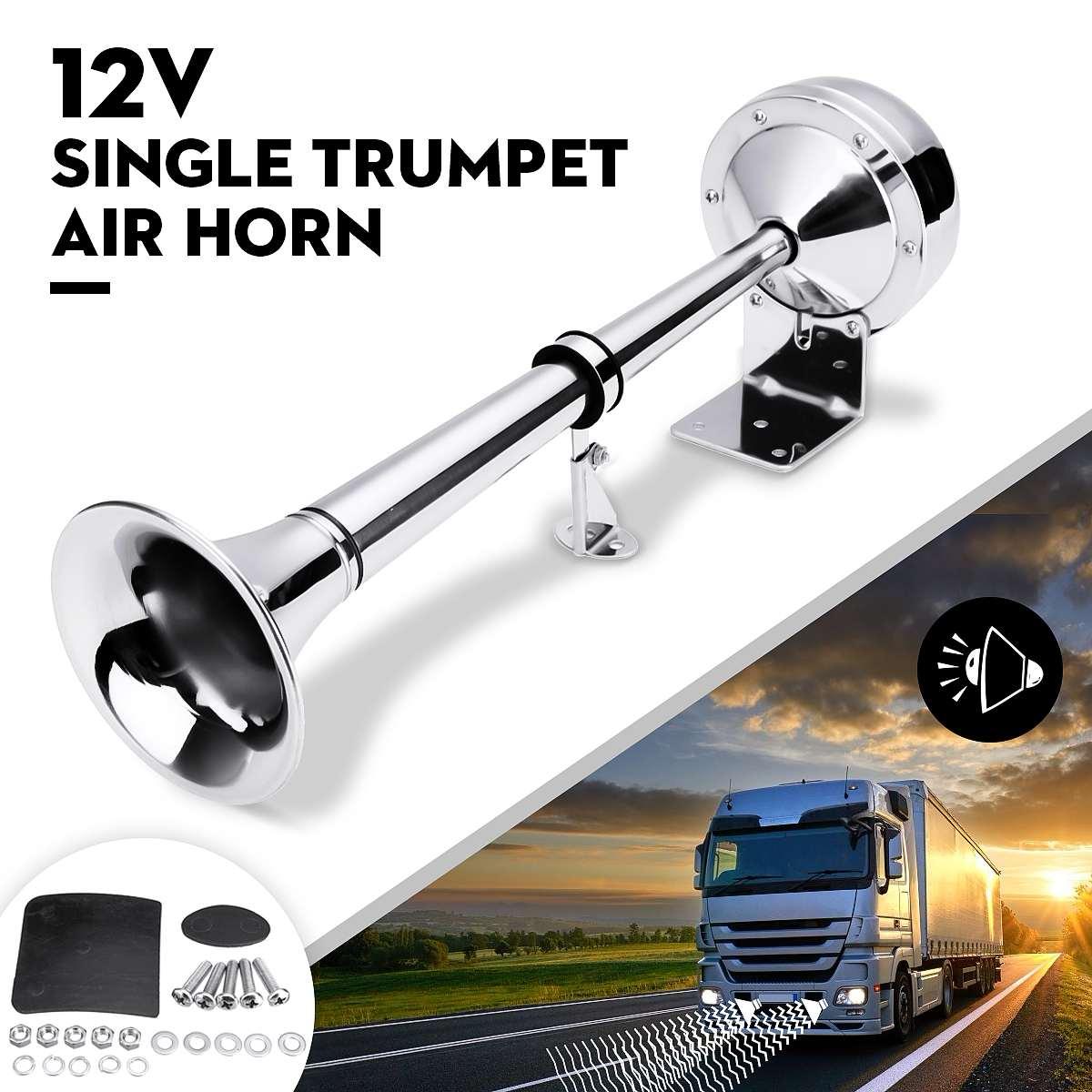 12V Electric Pump Air Horn Super Loud 115db for Car Truck Bus Van Train