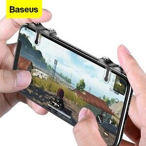 Image 1 - Baseus Handy Spiel Controller Für PUBG Gamepad Trigger Feuer Taste Ziel Schlüssel L1 R1 Shooter Joystick Für iPhone Android telefon