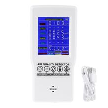 OOTDTY Digital Formaldehyde Detector HCHO/TVOC/CO2/PM2.5/PM10 Gas Air Quality Monitor High Quality 63HF gm8804 hcho pm2 5 pm10 gas detector digital formaldehyde detector formaldehyde monitor air quality meter 0 5000ug m3
