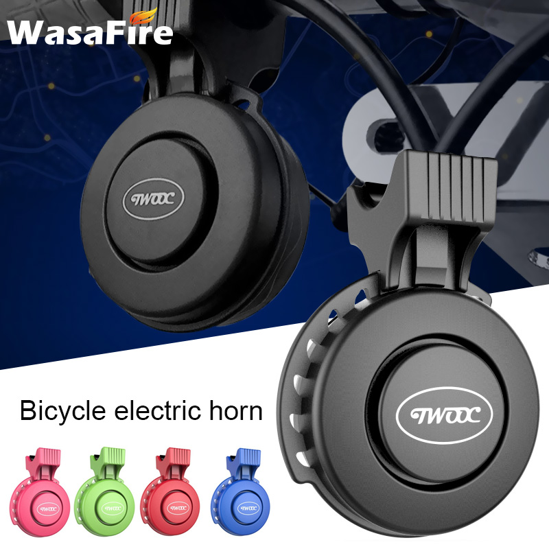 Bicycle Electric Horn USB Rechargeable Bike Handlebar Bells 120dB MTB Ring Sounds Alarm Waterproof Cycling Accessories