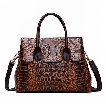 Torebki damskie torby z prawdziwej skóry kobiety krokodyl luksusowe torebki damskie torebki projektant torebki Crossbody torebki damskie Retro Tote tanie i dobre opinie ValenKuci Na co dzień torebka Skrzynki Torebki i torby crossbody CN (pochodzenie) Crocodile zipper SOFT NONE Moda SD-078