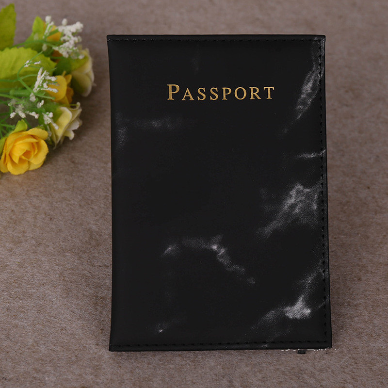 Colorful Marble Style Passport Cover Waterproof Passport Holder Travel Cover Case Passport Holder High Quality Passport Packet #