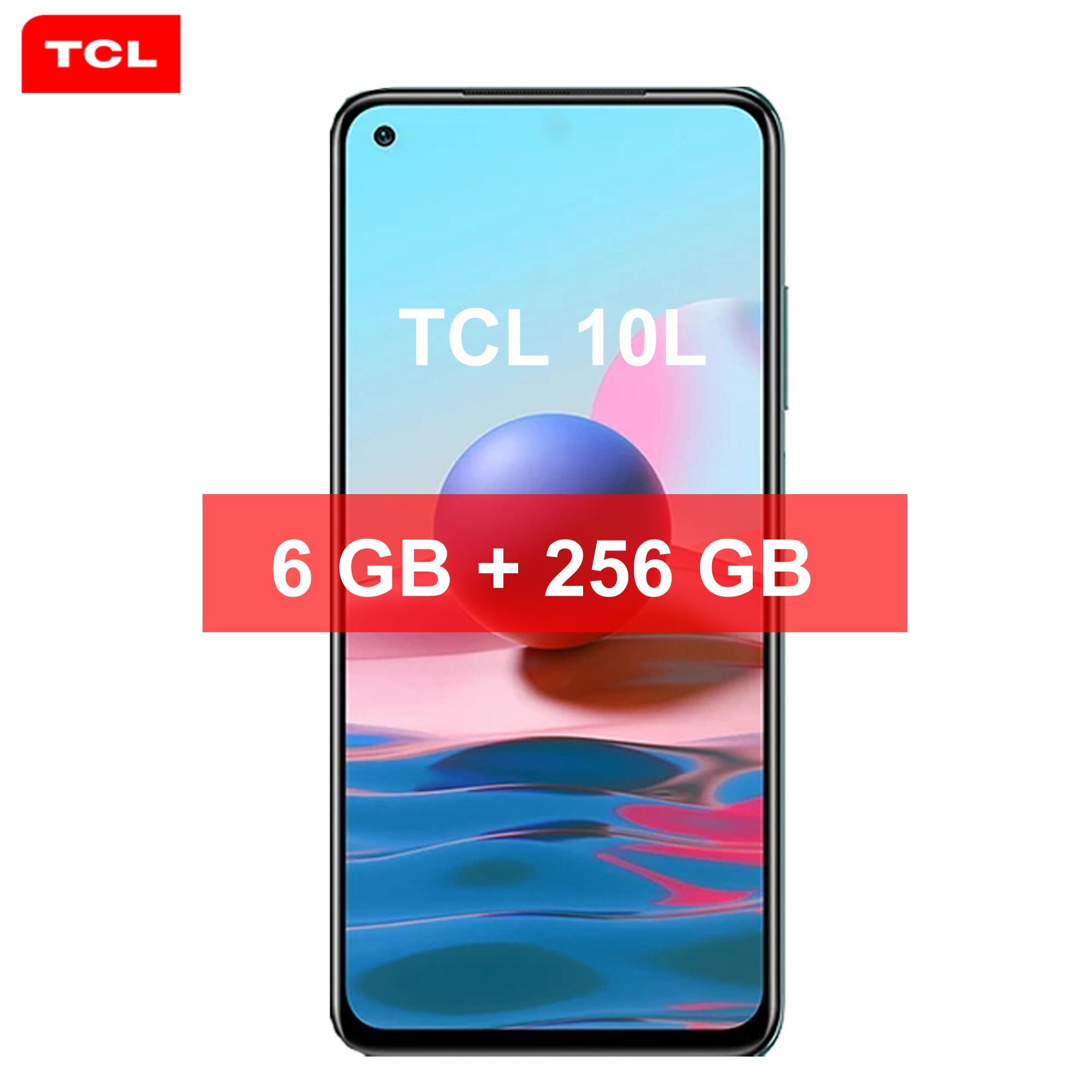 TCL 10L Quad Камера смартфон NFC 6 ГБ + 256 ГБ 6,53» 4000 мА/ч, ОС Android 11,0 Dual SIM телефон 4 аппарат не привязан к оператору сотовой связи для сотового телефона ...