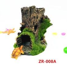 Аквариумные аксессуары для ландшафтного дизайна имитативное дерево коряга рыбный резервуар декорация для аквариума пейзаж рыба отверстие в дереве паук ден
