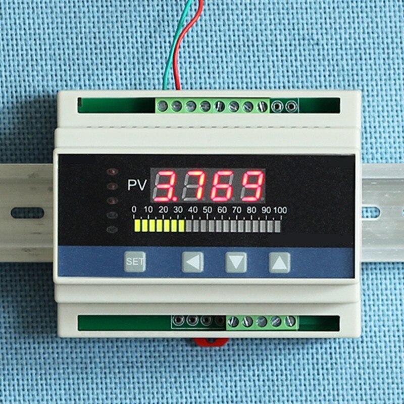 Din Rail 4-20mA DC entrée eau liquide niveau régulateur de pression jauge w 4 voies relais DC24V tension sortie liquide indicateur de niveau gpl