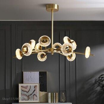 Lámparas colgantes de lujo nórdicas luces colgantes de cristal minimalistas modernas lámpara colgante para sala de estar dormitorio cocina 2020 nuevos productos