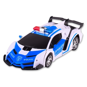RC Car Transformation Robots Sports Vehicle Model Robots Police Car Toys Cool Deformation Car Kids Toys Gifts For Boys 1