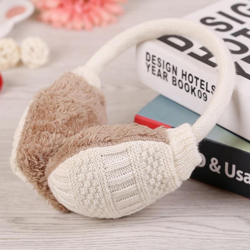BONJEAN New Winter Knitted Earmuffs For Women Winter Ear Protector Warm Ear Muffs Cover Plush Winter Ear Warmers BJ2041