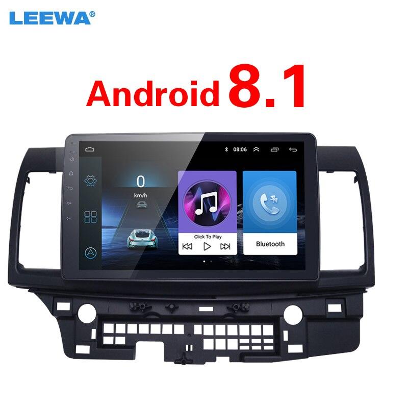 LEEWA 10 pouces plus grand écran HD Android 8.1 lecteur multimédia de voiture avec GPS Navi Radio pour Mitsubishi Lancer EX (2007-présent CY2A-CZ4A)