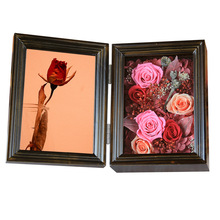 Eternal Rose Photo frame Solid wood Teenage Girlfriend Gift Valentines Day Gifts Birthday Exquisite
