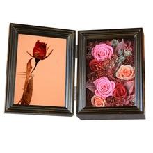 купить Eternal Rose Photo frame Solid wood Teenage Girlfriend Gift Valentine's Day Gifts Birthday Gift Exquisite Gift дешево