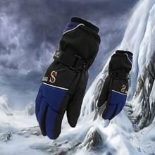 Men Windproof waterproof Warm Cycling Ski Snow Snowmobile snowboard Winter Warm Gloves Full Finger Mitten Adjustable ski gloves