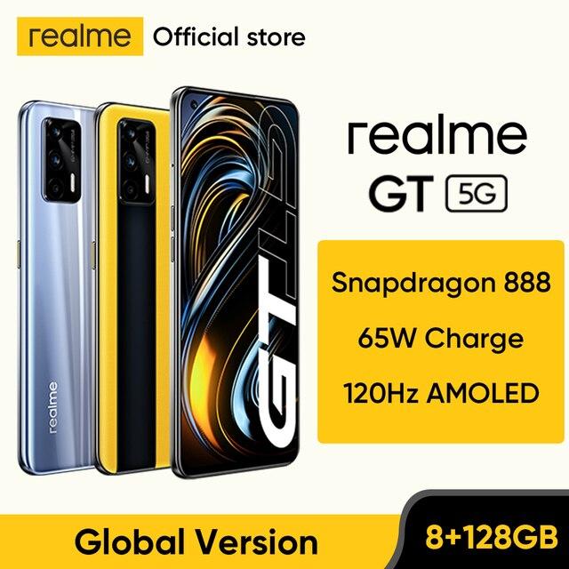 "World Premiere realme GT Global Version Snapdragon 888 65W Super Dart Charge 120Hz 6.43"" AMOLED 8GB 128GB NFC 4500mAh Smartphone 1"