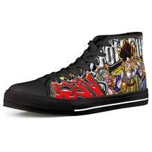 Anime Super Dragon Ball Custom Male Classic High-top Canvas Shoes Vegeta Casual Man's Shoes Vulcanized Shoes Sneakers Men(China)