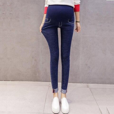 retro calcas lapis jeans maternidade para gravidas roupas femininas gravidez denim calcas stretch skinny jeans