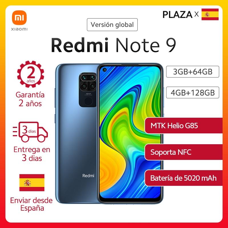 "Xiaomi versión Global Redmi Note 9 Smartphone NFC 6,52 ""FHD GB 64GB 128GB MTK G85 5020mAh 18W de carga rápida 48MP quad camera|Teléfonos móviles| - AliExpress"