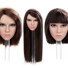 CAT TOYS Brand CT019 Long/ Short  Mixed blood Asian beauty head carving Fit 12'' Female seamless Body without body