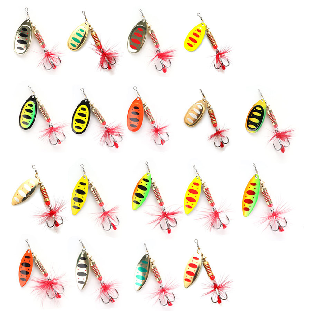W.P.E Brand Spinner Lure 1pcs 6.5g/10g/13.5g 18 color with Treble Hook Metal Spoon Lure Hard Fishing Lure Fishing Tackle Bait 5