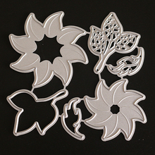 YINISE Metal Cutting Dies PUNCH CUT Flower For Scrapbooking Stencils DIY Album Cards Decoration Embossing Craft Die Cuts Tools large border punch flower knot embossing machines perfect for handmade cards craft height about 4cm 1 57inch