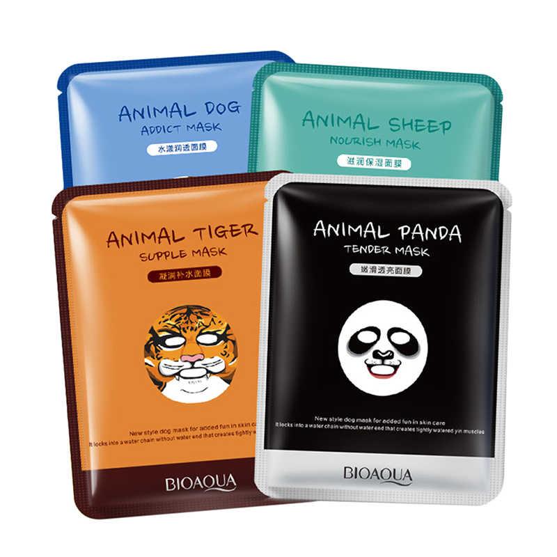 Косметика для лица макияж маска для ухода за кожей лица животное мягкий в виде тигра панда узор увлажняющий питательный тройной контроль масла